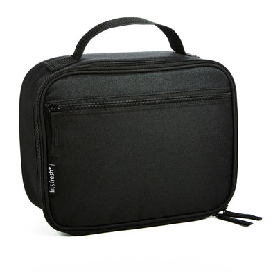 Insulated Essential Lunch Box (Black) - Mens' Bag - Fit & Fresh
