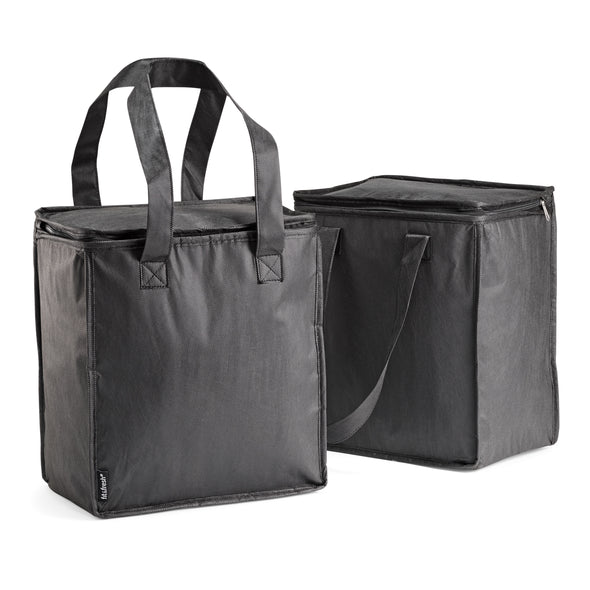Insulated Reusable Grocery Bags with Zipper -  - Fit & Fresh