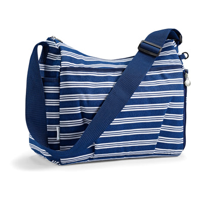 Navy Linear Stripe Insulated Diaper Bag -  - Fit & Fresh