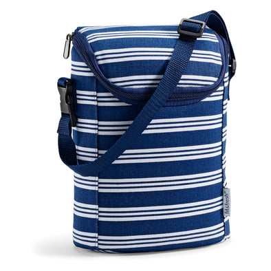 Navy Linear Stripe Baby Bottle Cooler Bag - Baby - Fit & Fresh