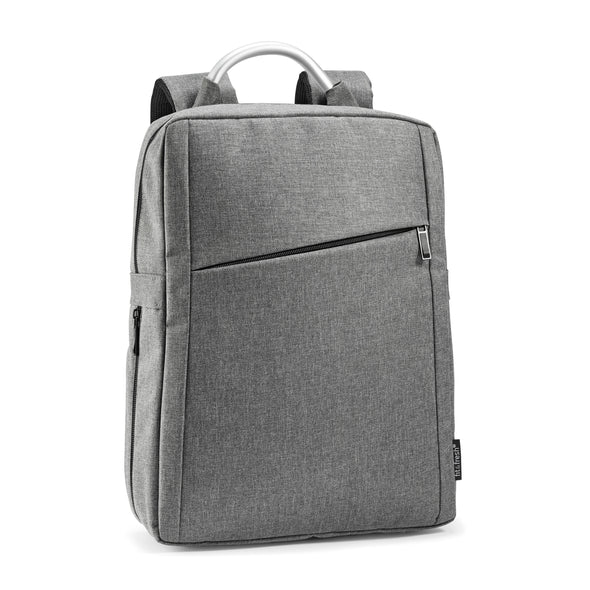 Light Gray Expandable Laptop Backpack -  - Fit & Fresh