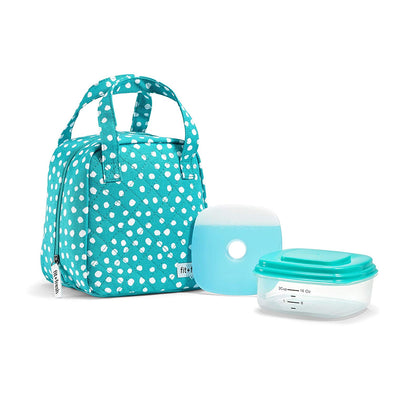 Capri Dot Polly Insulated Lunch Bag Kit -  - Fit & Fresh
