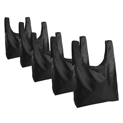 Set of 5 Packable Reusable Grocery Totes -  - Fit & Fresh