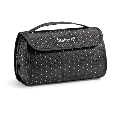 Makeup & Toiletries Bag, Black & White Dots - Travel - Fit & Fresh