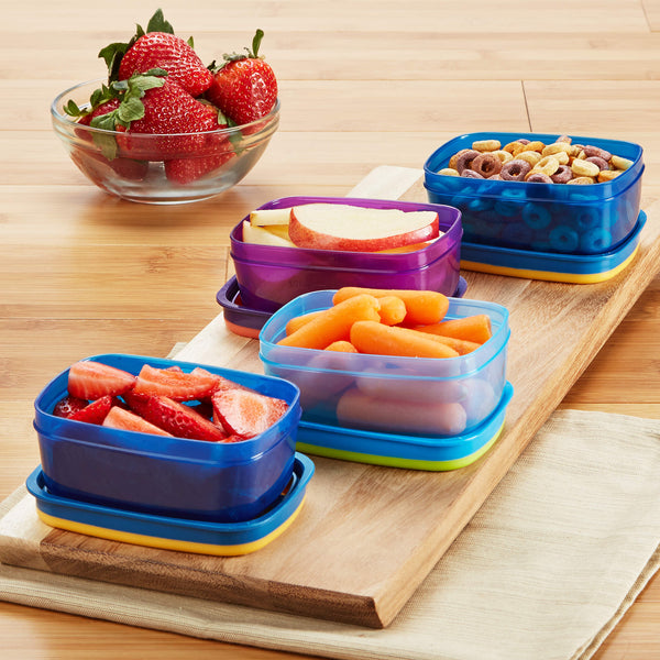 Leak-Proof Half Cup Portion Containers - Plastic Container - Fit & Fresh