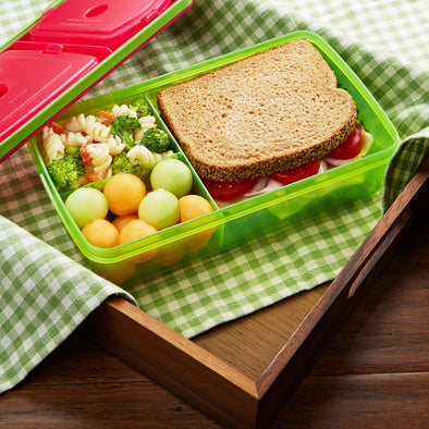 Leak-Proof Divided Bento Meal Carrier (Assorted Colors) - Plastic Container - Fit & Fresh