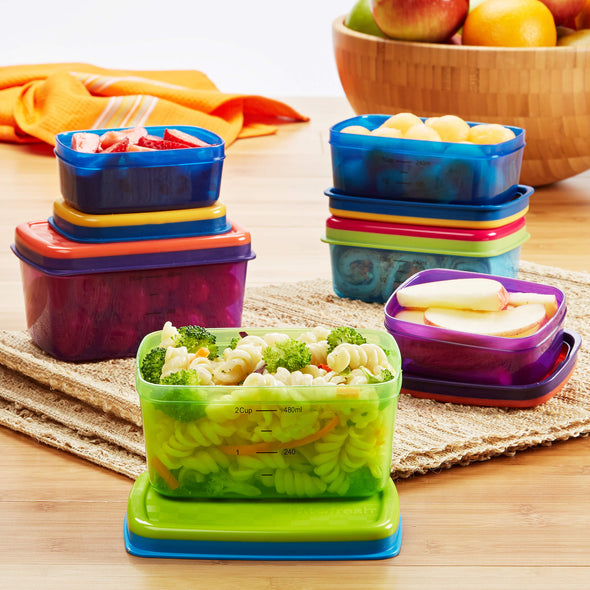 Kids' 14 Piece Leak-Proof Lunch Container Set - Plastic Container - Fit & Fresh