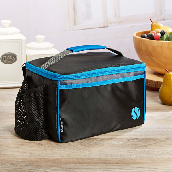Horizontal 6-Can Insulated Sport Cooler Lunch Bag - Mens' Bag - Fit & Fresh