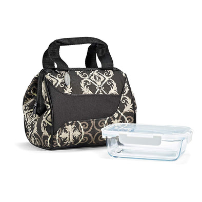 Downtown Insulated Lunch Bag with Glass Meal Prep Container -  - Fit & Fresh