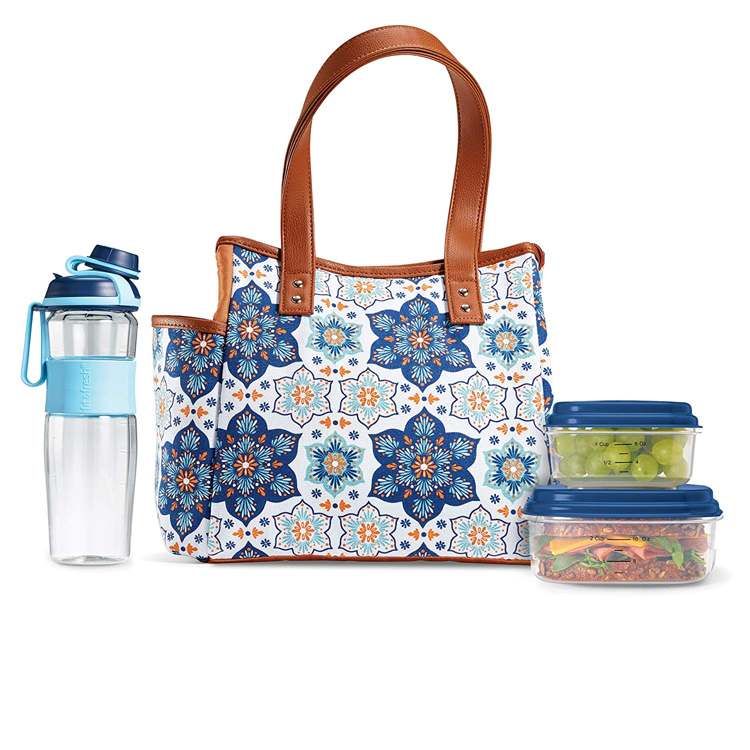 f8bdfc02a539 Fit & Fresh | Westerly Insulated Lunch Bag, Containers & Water Bottle