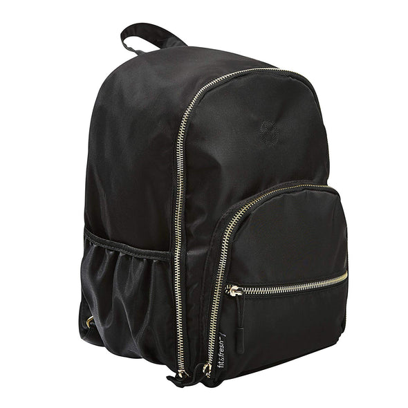 Black Sport Mini Backpack with Gold Hardware - Ladies' Bag - Fit & Fresh