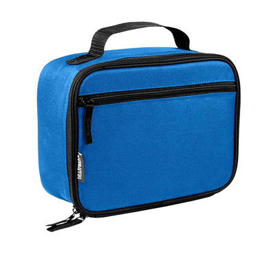 Insulated Blue Soft-Sided Lunch Box - Mens' Bag - Fit & Fresh