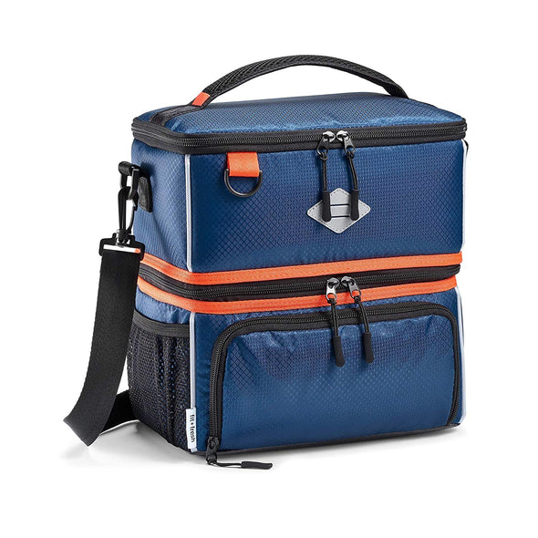 Dual Compartment Sport Cooler Insulated Lunch Bag -  - Fit & Fresh