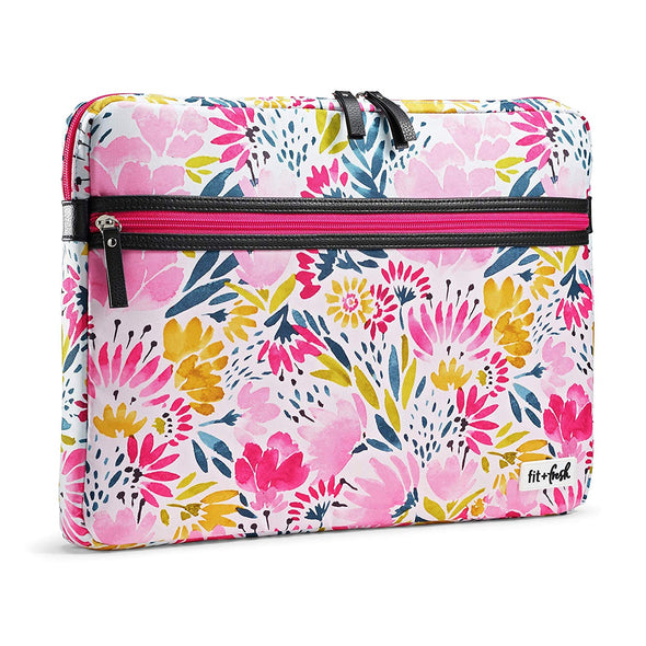 Blithewold Blooms Slim Padded Laptop Case -  - Fit & Fresh