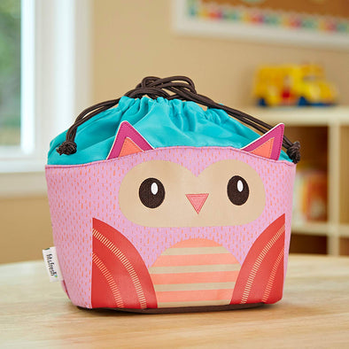Owl Drawstring Lunch Bag -  - Fit & Fresh