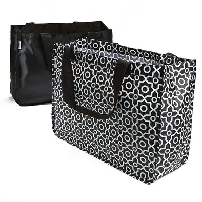 Set of 2 Grocery Totes with Handles - Travel - Fit & Fresh