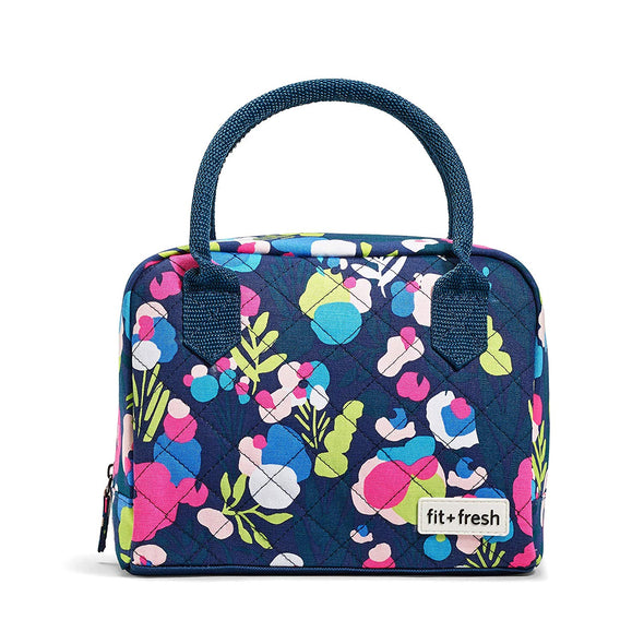 Floral Paint Splatter Anastasia Insulated Lunch Bag Kit -  - Fit & Fresh