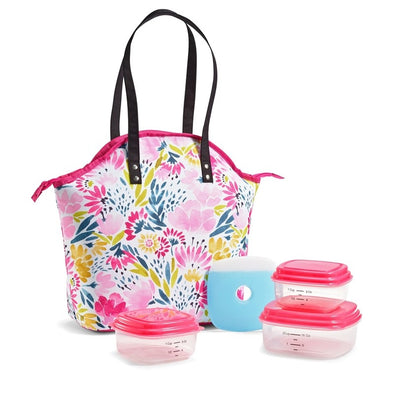 Blithewold Blooms Davenport Insulated Lunch Bag Kit - Ladies' Bag - Fit & Fresh