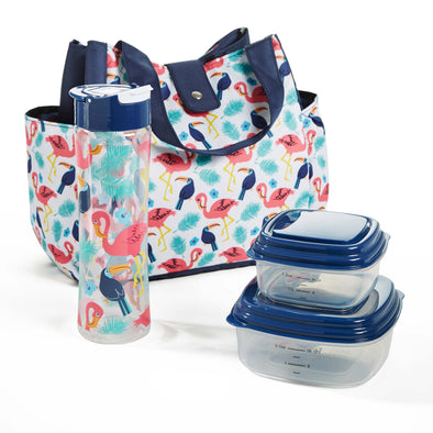 Westport Insulated Lunch Bag Set with Reusable Containers & Alpine Water Bottle - Ladies' Bag - Fit & Fresh