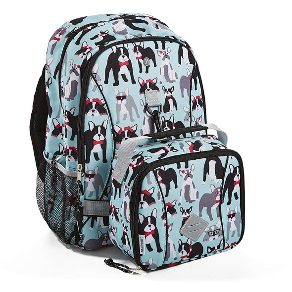 Pug Life Kid's Backpack with Matching Lunch Bag - Kids' Bag - Fit & Fresh