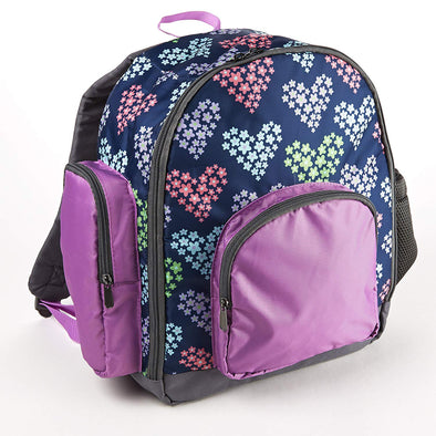 Fit & Fresh Small Kids' School Backpack (Heart Flowers) -  - Fit & Fresh