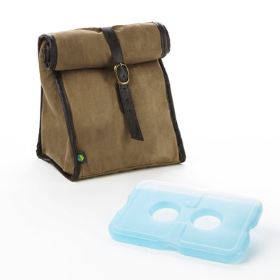 Classic Roll Top Insulated Lunch Bag with Ice Pack - Mens' Bag - Fit & Fresh