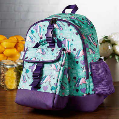 Elena Kids' School Backpack & Matching Insulated Lunch Bag (Unicorns Are Real) - Kids' Bag - Fit & Fresh