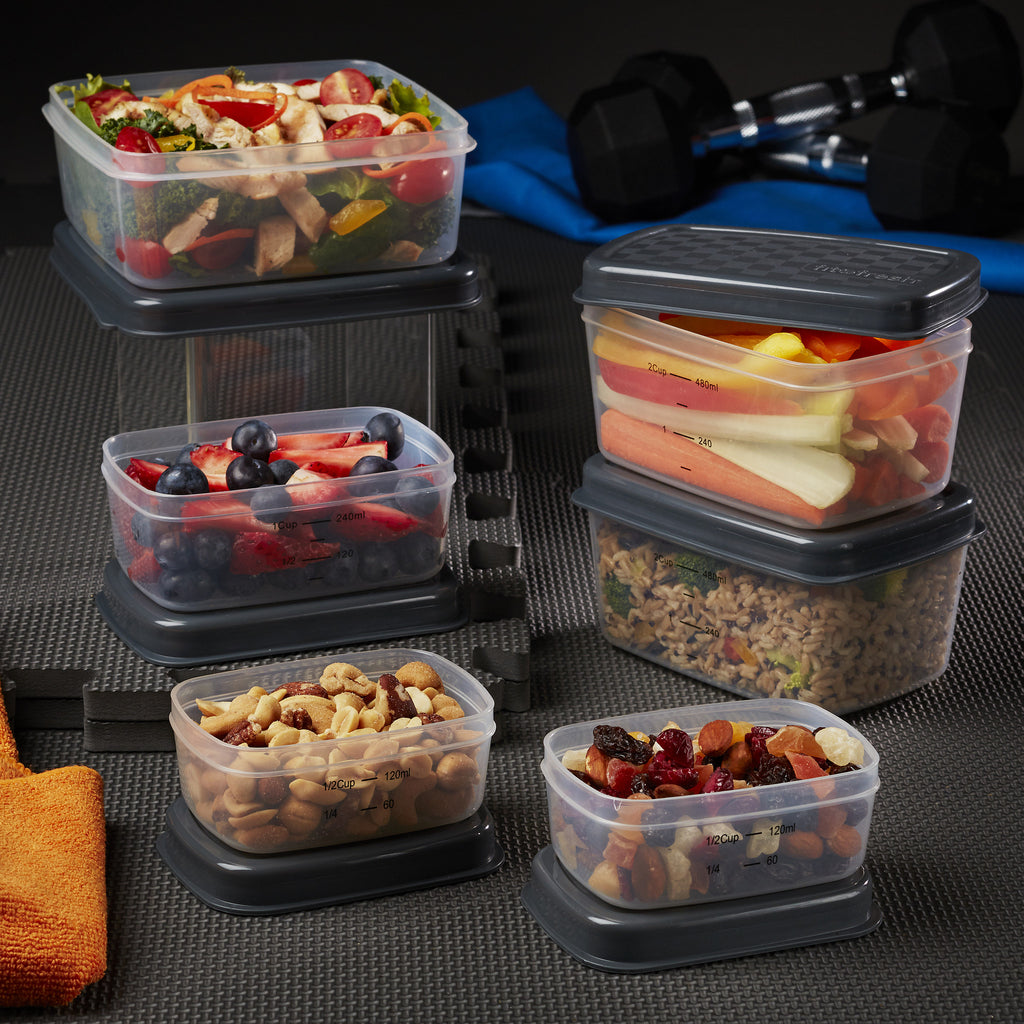 Jaxx FitPak Leak-Proof Meal Prep Container Set with Lunch POD (Replacements for FitPak) - Plastic Container - Fit & Fresh