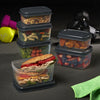 Jaxx FitPak Meal Prep Portion Control Replacement Containers (Replacements for FitPak) - Plastic Container - Fit & Fresh