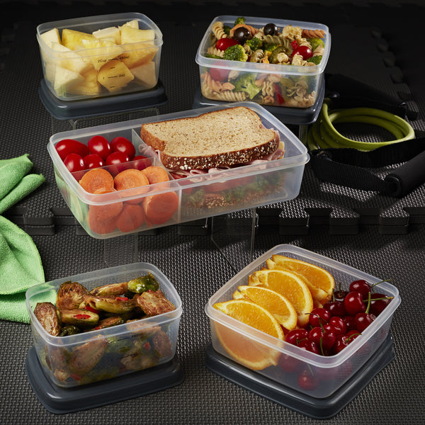 Jaxx FitPak Leak-Proof Meal Prep Portion Container Set with Bento Box (Replacements for FitPak XL)