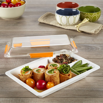 Lunchware Bento Box with Locking Lid - Plastic Container - Fit & Fresh