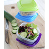 Multicolored 1 Cup Stak Pak Portion Control Containers (Set of 4) - Plastic Container - Fit & Fresh