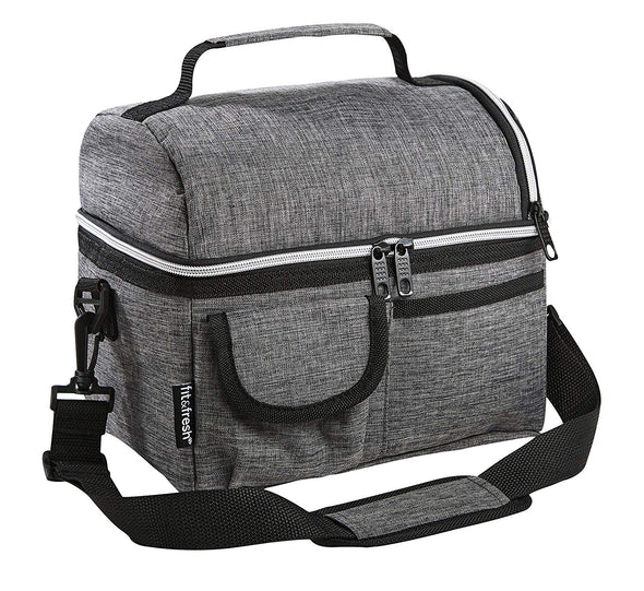 Gray Insulated Cooler Bag - Cooler - Fit & Fresh