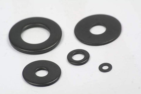 Black Stainless Steel Flat Washers and Penny Washers