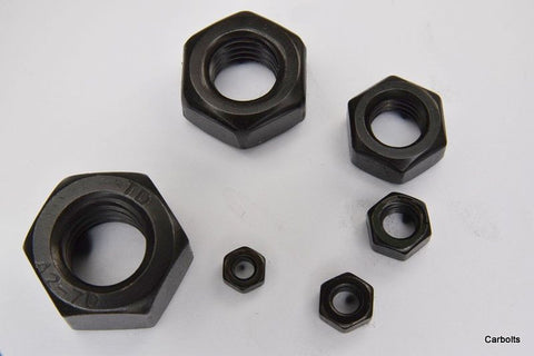 Black Stainless Steel Full Nut DIN 934 Hexagon Nuts