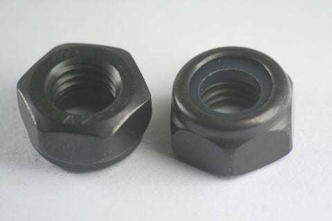 Black Stainless Steel Nyloc Nuts