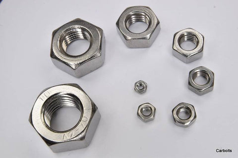 Stainless Steel Full Nuts A2-70 Stainless Steel