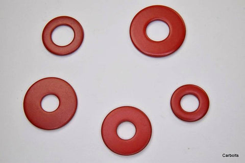 Red Stainless Steel Flat Washers