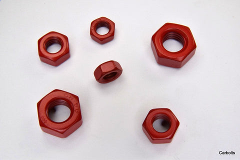 Red Stainless Steel Full Nuts