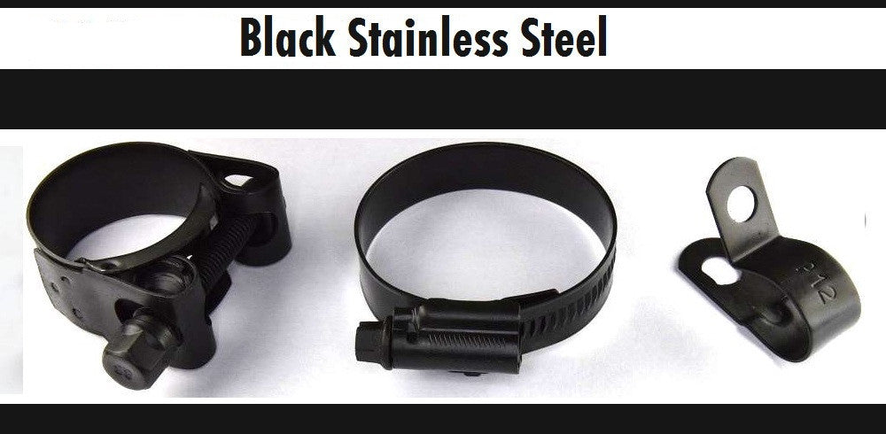Black Stainless Steel Clips