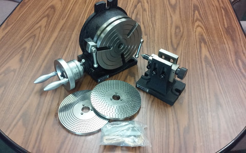 "8"" HORIZONTAL VERTICAL ROTARY TABLE, Dividing plates,tailstock #TSL200-GRVN-new"