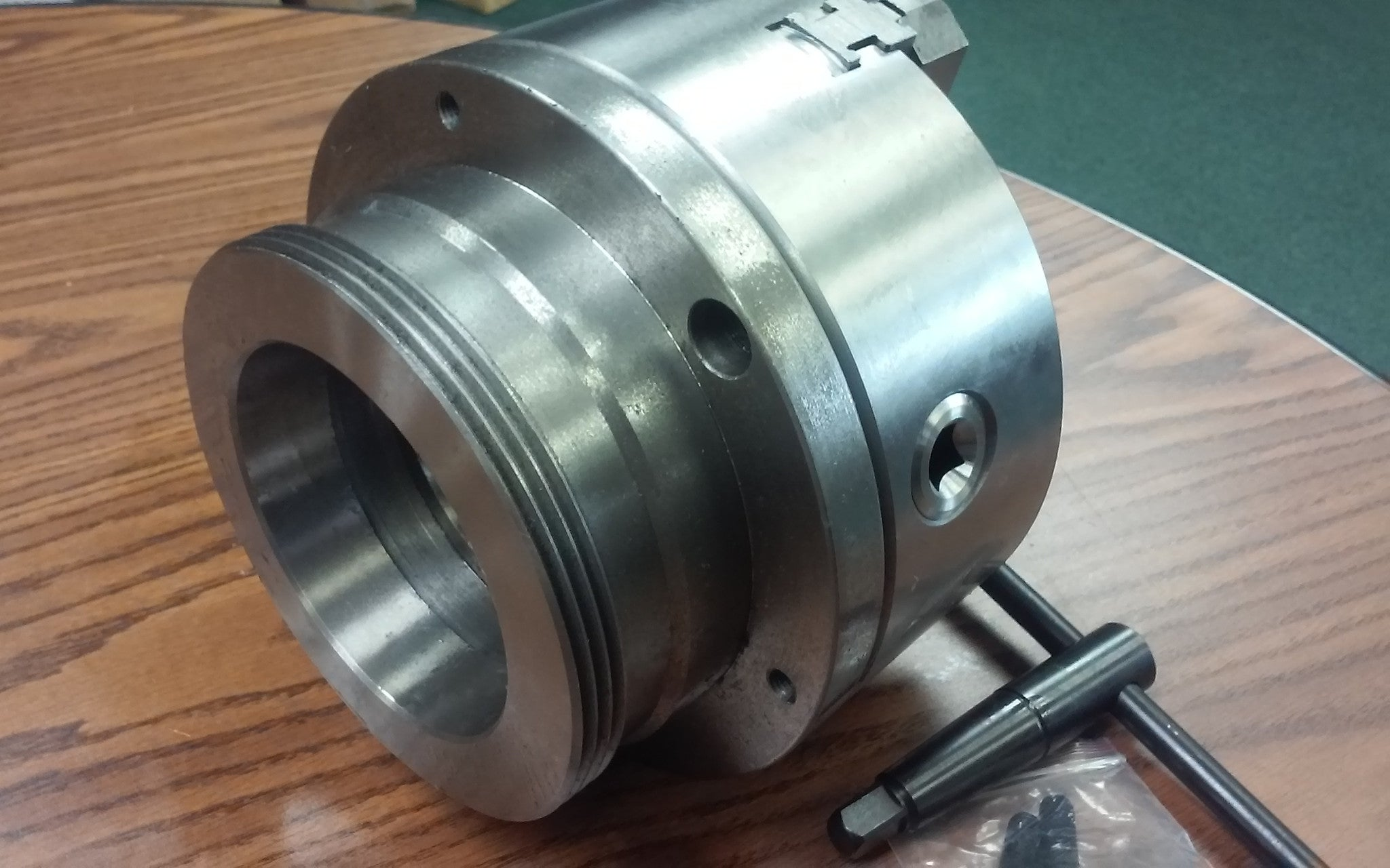 """w 8/"""" 3-JAW SELF-CENTERING LATHE CHUCK top /& bottom jaws L1 adapter back plate"""