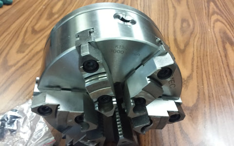 "8"" 6-JAW SELF-CENTERING LATHE CHUCK w. top&bottom jaws, L1 adapter back plate"