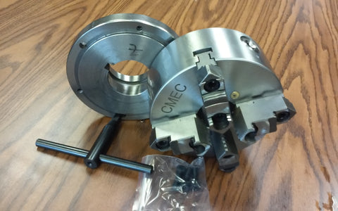 "6"" 4-JAW SELF-CENTERING LATHE CHUCK w. L00 adapter back mounting plate-new"