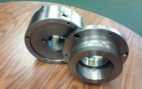 "8""  4-Jaw Self-Centering Lathe Chuck top&bottom jaws w. L1 adapter plate-new"