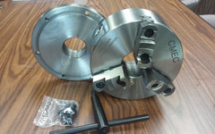 "8"" - 3 JAWS   Self-Centering T.I.R.---0.003"" with 2-1/4""-8 back mounting adaptor plate"