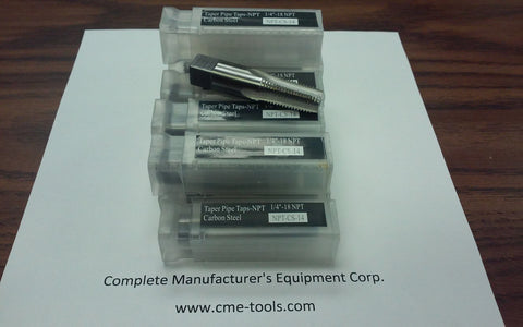 "10pcs 1/8""-27 NPT Taps ,Taper pipe taps,4 flt, #NPT-CS-18-new"