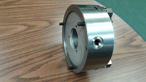 "8"" 3-JAW SELF-CENTERING CHUCKS plain back, Front Mounting for rotary tables"