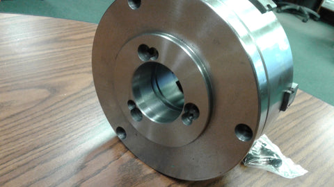 "8"" 6-JAW SELF-CENTERING LATHE CHUCK w. top&bottom jaws, D1-4 adapter back plate"