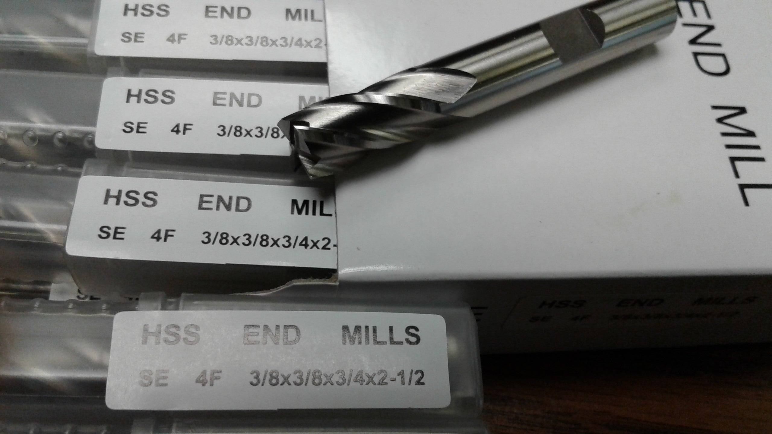 "20pcs 3//8/"" 4 Flute S//E Premium M2 HSS end mills,center-cutting#1009C-New"